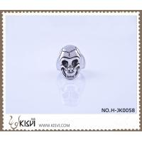 China Hot Sell 14.1g 316l Stainless Steel Death's - Head Ring H-JK0058 wholesale