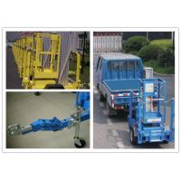 China 8 Meter Hydraulic Work Platform , Trailer Mounted Lift For One Person wholesale