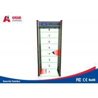 China Touch Screen Door Frame Metal Detector , Pass Through Metal Detector 8 Detecting Zone wholesale