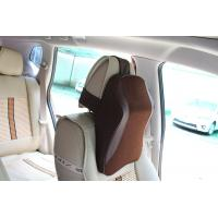 China Leather Surface Car Back Support Pillow With Easy Removable And Washable Cover wholesale