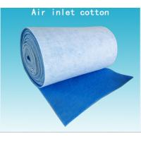 China Inlet Cotton Blue White Pre Air Filtration Media Spray Booth Air Filter Roll Material wholesale