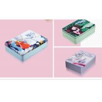China Mirror Makeup Personalised Packing Boxes Small Portable Square Cosmetic Tin Can wholesale