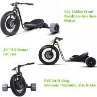 Buy cheap Three Wheel Powerful Electric Bike , Motorized Adults Powered Drift Trike from wholesalers