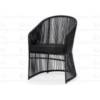 China Outdoor Dining Chairs Round Shape Wicker Chair Cushion Included in Black on sale
