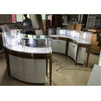 High End Stainless Steel Gold Jewellery Showroom Display With Led Light