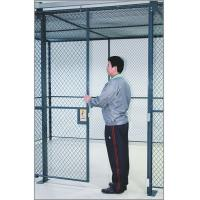 China Commercial Wire Mesh Partition Panels Full Height Wire Cage Door 230 Lbs Weight wholesale