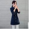 Buy cheap Customized Pattern Womens Jean Jackets , Classic Elegant Style Long Denim Jacket product