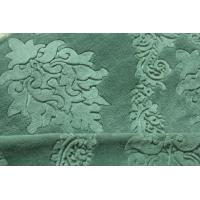 Buy cheap 75D Yarnd Green Embossed Flannel Fleece Fabric OEM / ODM Available product