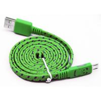China Flat Micro USB2.0 Data Cable with Panda Glowing & Fabric Mesh wholesale