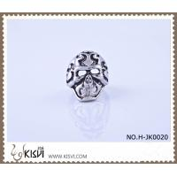 China Fashion ring 316l stainless steel skull ring H-JK0020 with factory price wholesale