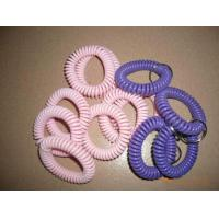China Custom pink/purple color spiral wrist coil band without key ring cheap wrist holders wholesale