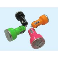 China Dual Port Mini USB Car Chargers For Cell Phones , 12v - 24v Orange Color wholesale
