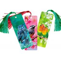 Quality Custom 0.6 mm PET 3D Lenticular Bookmark With Two Sides CMYK Printing for sale