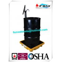China Poly 55 Gallon Drum Containment Pallets Spill Platform For Single IBC Drum Tank wholesale