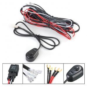 China 12V 2.5m LED Light Bar Wiring Harness Kit For Car Black , Red Color wholesale