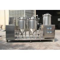 China 50L 100L home brewing equipment , brew kettle, 100L mash lauter tun, 100L fermenter with the dimple jackets on sale