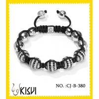 China Low MOQ and sample order available CZ crystal & alloy crystal beaded bracelet wholesale