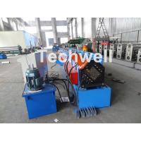 China Metal Stud And Track Roll Forming Machine , Sheet Metal Roll Former For Roof Truss wholesale