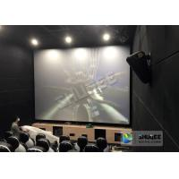 China Unique Electric Motion 4D Cinema Seats With Curve And Ring Screen / 4D Movie Ride wholesale