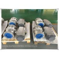 Buy cheap 304 STAINLESS STEEL DOUBLE FLANGE BALL VALVE PNEUMATIC ACTUATOR from wholesalers