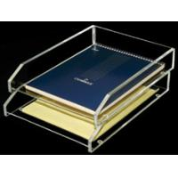 China Acrylic Stationery Holder book Display with 2 tier 8 * 15 * 25cm wholesale