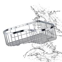 China Bathroom Accessory Corner Basket Shelf Stainless Steel Easy Installation wholesale