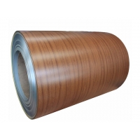 China 6.5mm Thickness Wood Grain Painted Aluminum Coil with T351 Temper wholesale