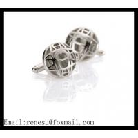 China Silver  plated Metal Cufflinks  ball shape  Cufflink Best men's Accessories wholesale