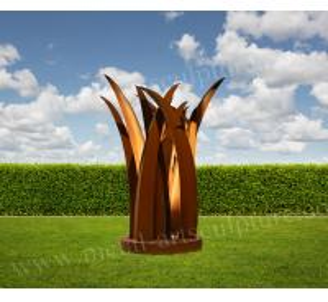 China Material Color Bar Shape Corten Steel Sculpture Wonderful Design As Lawn Decoration wholesale