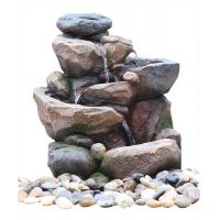 China Professional 3 Tier Outside Rock Water Fountains For Garden Ornaments wholesale