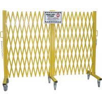 China Warehouse Heavy Duty Steel Portable Folding Security Gates With Warning Label wholesale