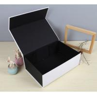 Buy cheap Black Luxury Paper Gift Box Custom Printed Stationery Boxes from wholesalers