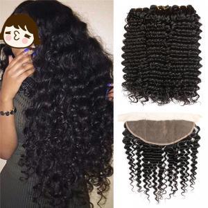 China 100% Virgin Malaysian Deep Curly Hair Extensions Natural Color No Chemical wholesale