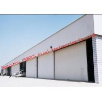 China Manual Folded Push Pull Overhead Industrial Garage Doors Track And Hardware Of Aircraft Hanger wholesale