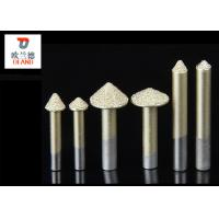 China 6mm 3D Vacuum Brazed Diamond Engraving Tool Premium Diamond Sand Materials wholesale