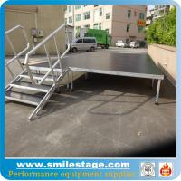 Buy cheap Portable 1.2 m-2 m adjustable height stage with plywood platform product