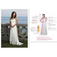 Top Quality And Good Price Sleeveless Bridal White/Ivory Wedding Dress