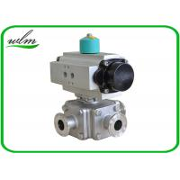 Quality Sanitary Full Bore Ball Valve Clamp / Thread / Weld / Flange 3 Way , Non for sale