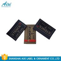 China Clothes Brand Woven Clothing Label Tags , Customized Garment Private Lable wholesale