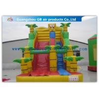 China Spongebob Big Kid Inflatable Water Slides For Parties , Blow Up Outdoor Water Slides wholesale