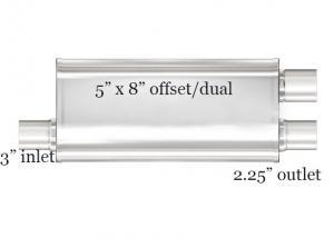 China Straight Through Performance 409 Stainless Steel Exhaust Muffler wholesale