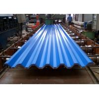 China Blue Powder Coated Corrugated Steel Roofing Sheets Used For Roofing Wall wholesale