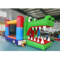 China 0.55 PVC Tarpaulin Inflatable Bouncy Castle / Bounce House For Kids Fireproof wholesale