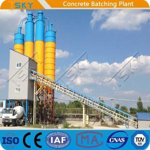 China Twin Shaft Mixer Belt Conveyor HLS120 Tower Batching Plant wholesale