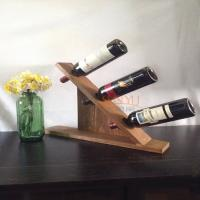 Quality MDF Countertop Display Shelves Wooden Wine Bottle Holder DIY Gift for sale