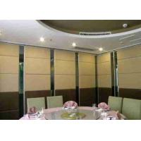 China Modern Style Sliding Partition Wall , 100mm Thicknes Movable Partition Wall Fabric Finish wholesale