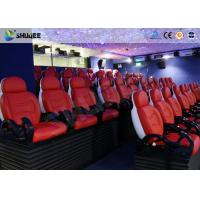 China Large Screen 5D Movie Theater Black / White Color Seats For Amusement Park wholesale