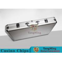 Quality Aluminum Carrying Case For Casino Poker Chip Set  Metal Poker Chip Box For 600pcs for sale