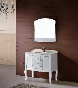 China Solid Wood Bathroom Cabinet / Furniture / Vanity (MJ-222) wholesale