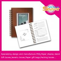 China Spiral Binding Book / Coloring Hardcover Book Printer With 50gsm - 300gsm White / Brown Kraft Paper wholesale